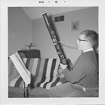 1961 age 14 with bassoon