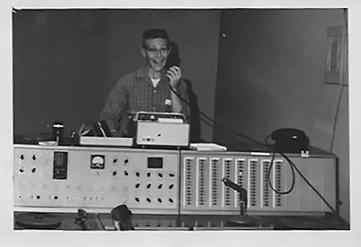 1963, age 16 daily announcements at his high school